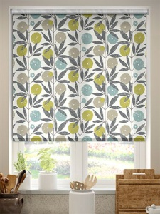 patterned kitchen blinds