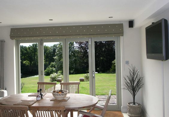roman blinds in dining room